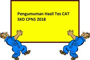 HASIL CAT SKD SELEKSI CPNS TAHUN 2018
