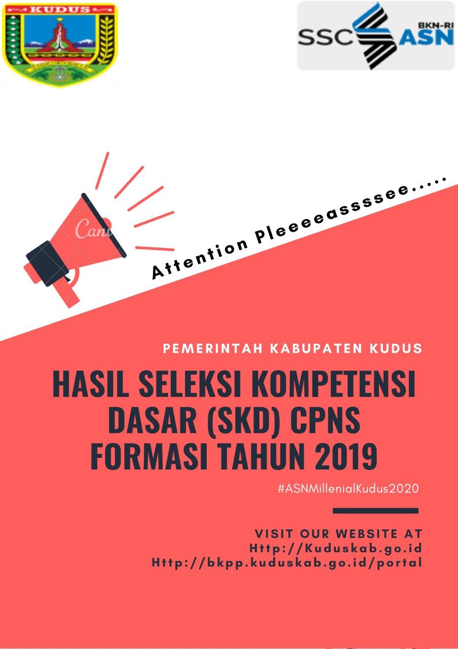 Hasil SKD Seleksi CPNS 2019 di Pemkab Kudus