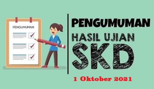 Pengumuman Hasil Ujian SKD 1 Oktober 2021